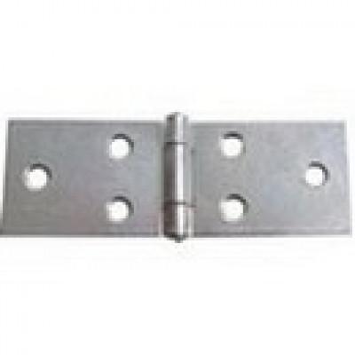 Horizontal hinge, steel, heightxwidth: 28x80 mm