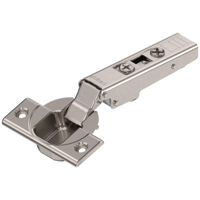 CLIP top hinge 110°, OVERLAY, unsprung, boss: SCREW-ON, nickel