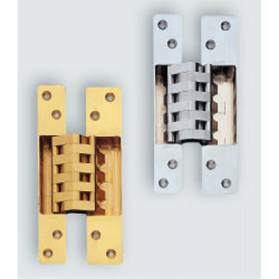 HES 3D concealed hinge with cover caps, satin chrome