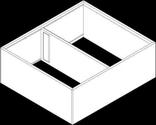 AMBIA-LINE Frame, width=110mm, NL=270 mm, terra black