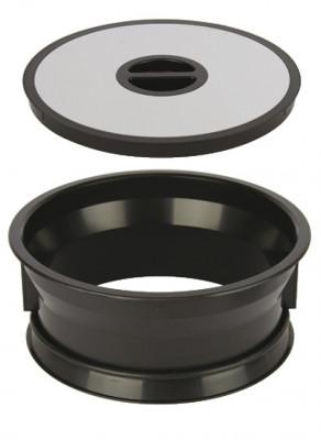 Worktop waste bin, for mounting in › 276 mm hole, bin bag holder, black plastic