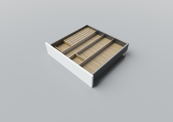 Cutlery divider for LEGRABOX/TA'OR C=550-600 mm, NL=550 mm, oak
