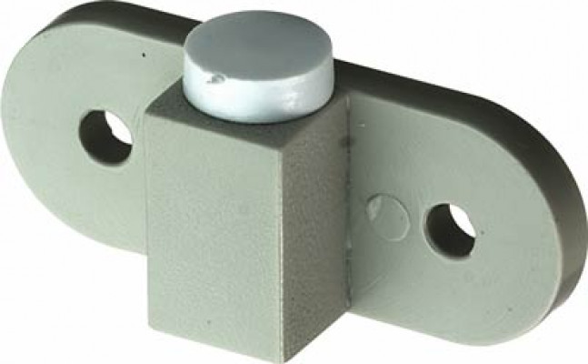 End stop, for tambour doors, plastic , grey