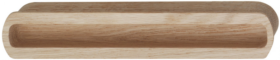 Inset handle, wood, length 210 mm, halkin, unfinished oak