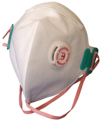 Disposable Fold Flat P2 Dust Mask+Valve