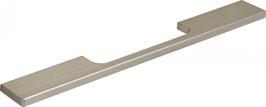 Pull handle, aluminum, fixing centres 160 mm, stainless steel effect