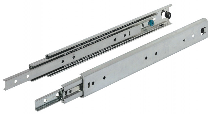 Ball bearing drawer runner, full extension, capacity 80 kg, 900 mm, Accuride 5321
