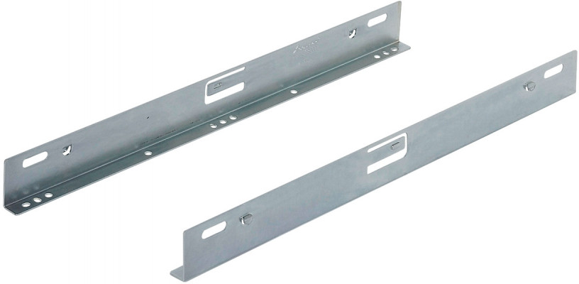 Mounting brackets, for Accuride 2132/3732/3832 drawer runners, L=400 mm, bright