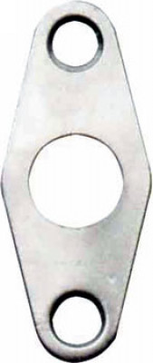 Escutcheon, for budget lock, surface mounted, steel, rainbow zinc