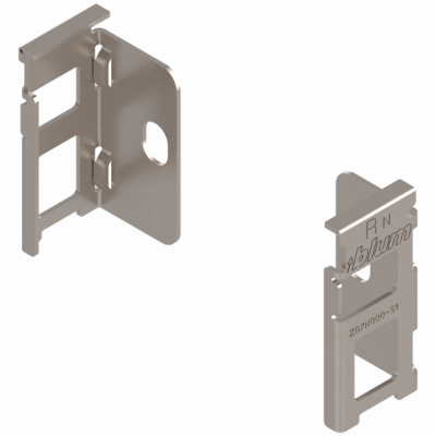 LEGRABOX Pairs back fixing bracket, height N (66 mm), nickel