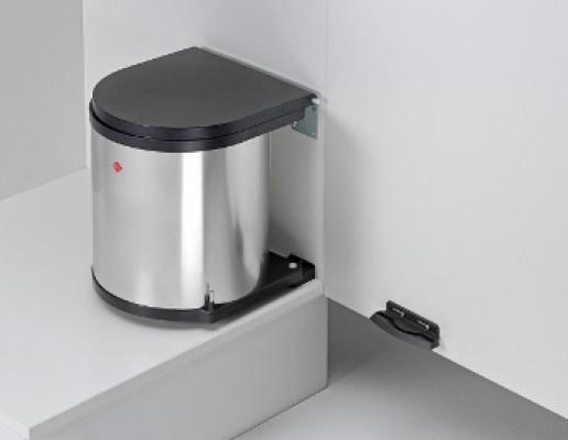 Door Mounted Waste Bin, CW=400 mm, 15 litre (1x15), WESCO, stainless steel