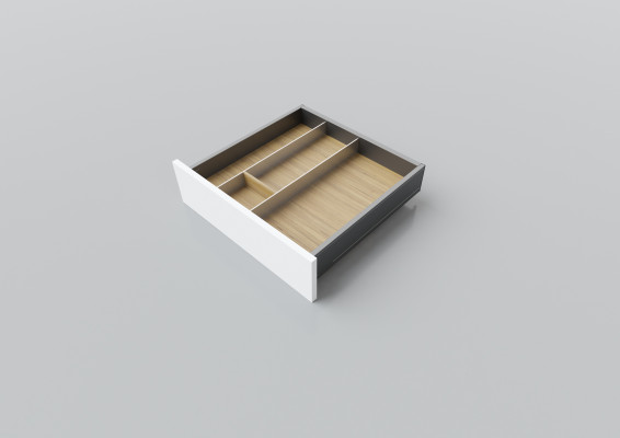 Cutlery divider for LEGRABOX/TA'OR C=500-550 mm, NL=450 mm, oak