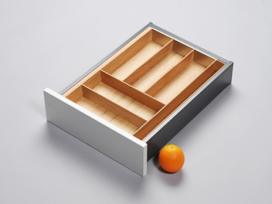 Cutlery divider for ANTARO/LEGRABOX/TA'OR C=297-464 mm, NL=500 mm, oak