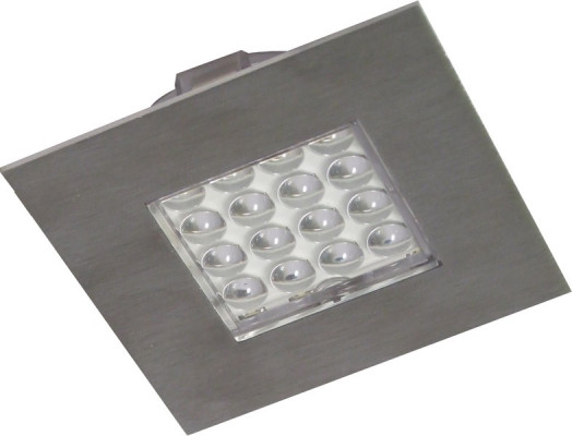 LED spotlight (zone 1), 1.3W/12V, 74x74 mm, rated IP20, LOOX compatible, cool white 5000K