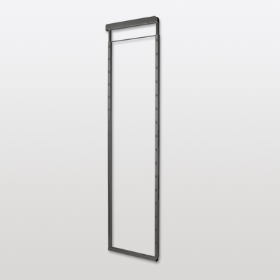 Height adjustable frame 1200-1600 mm, for med cabinets with soft close, PEKA, anthracite