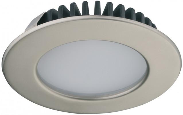 LED downlight 12V/3.2W,  65 mm, IP44, Loox LED, polished chtome, warm white 3000 K