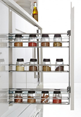 Pull out storage unit, for cabinet width 150 mm, basket width: 107 mm