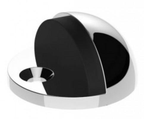 Doorstop, floor mounted (oval), chrome