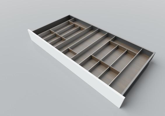 Cutlery divider for LEGRABOX/TA'OR C=1200 mm, NL=600 mm, walnut
