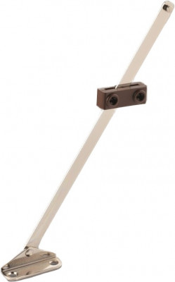 "Sliding stay, adjustable, 200 mm (8""), brass/brown"