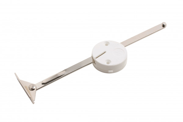 """Lift-up flap stay with brake (right), 206 mm (8""""), nickel polished"""