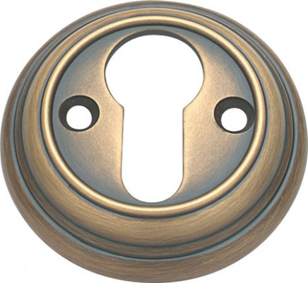 Escutcheons, plain, profile cylinder, ø 56 mm, polished