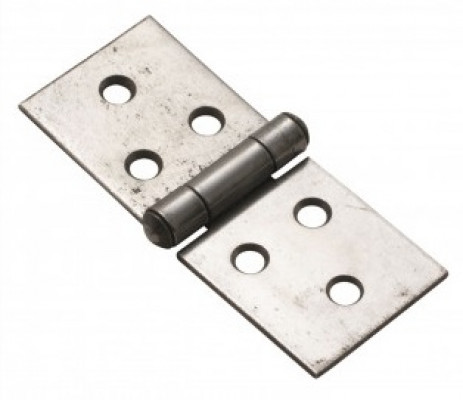 """Pairs 2"""" Steel Backflap Hinges, Uncranked Self Colour"""