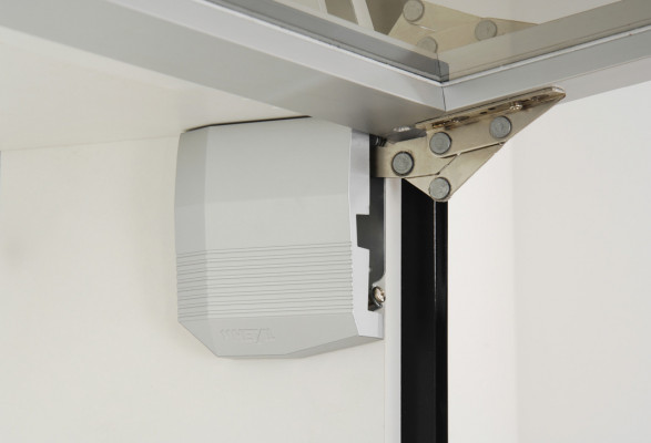 Single door flap fitting, kinvaro t-65 & t-70, for top box units in kitchens