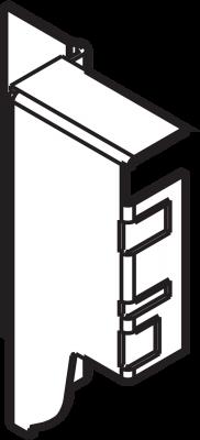 ANTARO/TANDEMBOX back fixings bracket, height M (86 mm), right, metalic grey