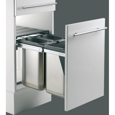 Edeltrio recycler, CW=400 mm, 40 litre (1x20, 2x10litre), WESCO, stainless steel