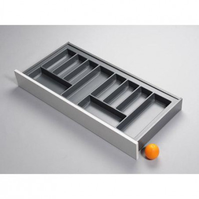 Cutlery divider for LEGRABOX/TA'OR, C=1000 mm, NL=500 mm, anthracite