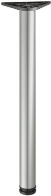 Leg, › 60/80 mm, tubular steel, steel, 60 mm, height 375 mm, silver coloured RAL 9006