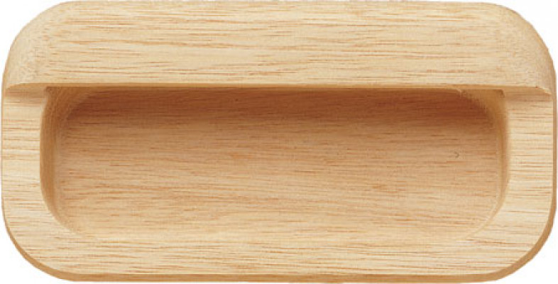 Inset handle, unfinished wood, 105 mm, beech