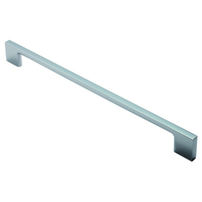 Slim D handle, centres 256 mm, satin nickel
