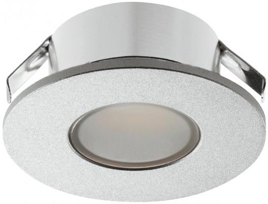 LED downlight 1.5W/12V, 35 mm, IP44, Loox LED 2022, warm white 3000K, silver colour