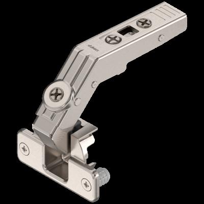 CLIP top Hinge 60° KNOCK-IN for bi fold door applications, nickel