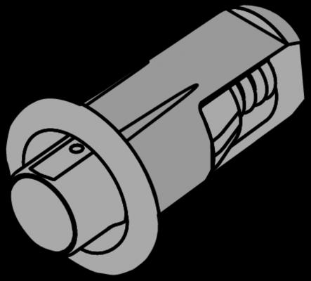 Distance bumper, Ø 5 mm, gap 2.6 mm, drilling