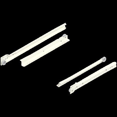 STANDARD roller runner, single extension, 25 kg, NL=300 mm, left+right, cream/white