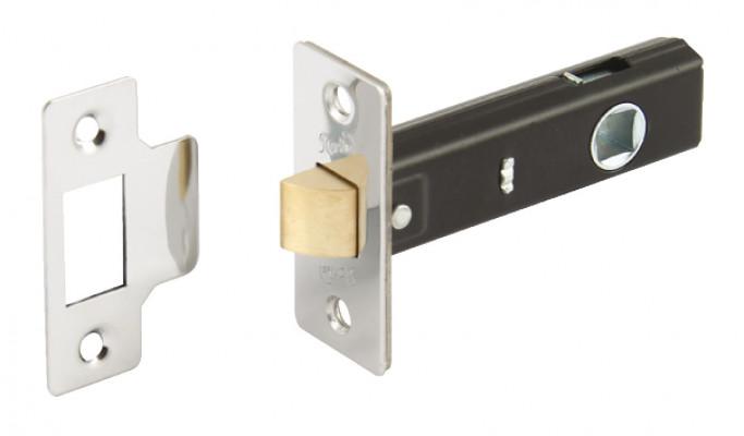 Mortice latch, tubular, case 79 mm, STARTEC, backset 46 mm, case 66 mm, polished nickel