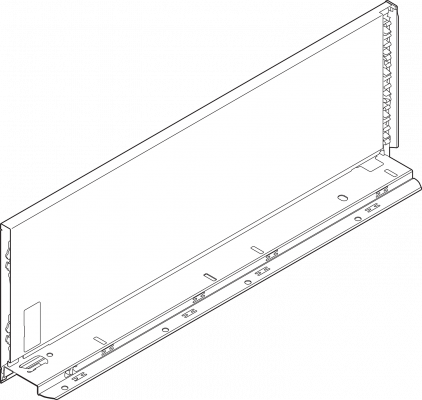 LEGRABOX pure drawer side, height C (177 mm), NL=500 mm, left, orion grey