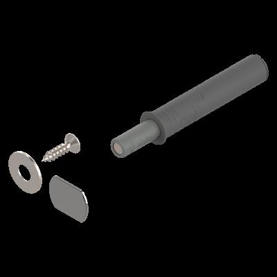 TIP-ON door mechanism,short version,with 955.1008 & W4 plate, adjustable magnet, dust grey
