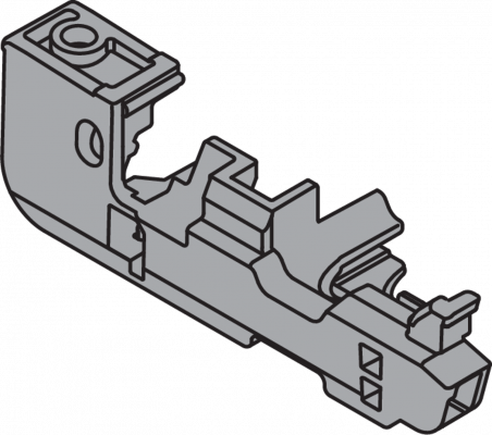 Depth Adjustment for MOVENTO Locking device, right, dust grey