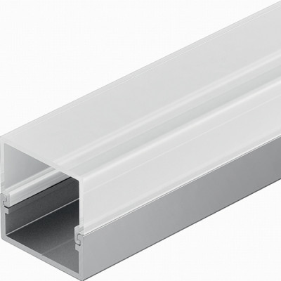 Aluminium profiles, square, LED flexible strip lights, L=2500 mm, rectangular, milky