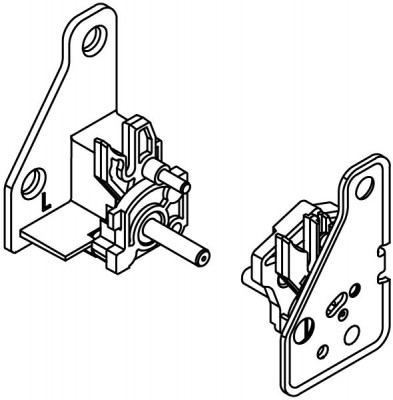 Locking unit, for nova pro tipmatic plus drawer runners, for left+right  use