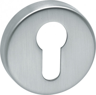 Escutcheons, for startec lever handles, euro profile, 304 stainless steel, satin