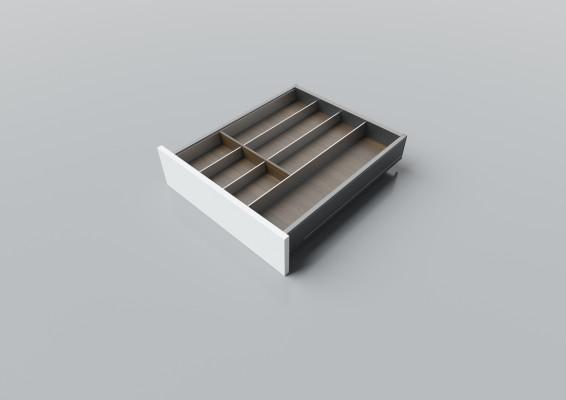 Cutlery divider for LEGRABOX/TA'OR C=400-550 mm, NL=550 mm, walnut