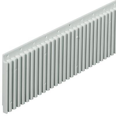 Sgl Grooved Strip 497mm Grey