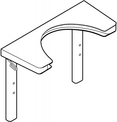 Height adjustable fittings, dock-in unit, ropox, for use with ropox swing washbasin, white