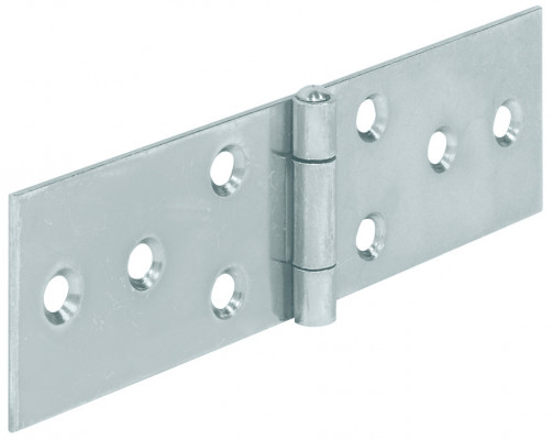 Horizontal hinge, steel, heightxwidth: 25x60 mm