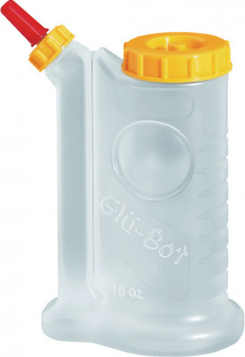 Glue, white plastic, bottle, with closable cap & exchangeable bottle,size 500 ml